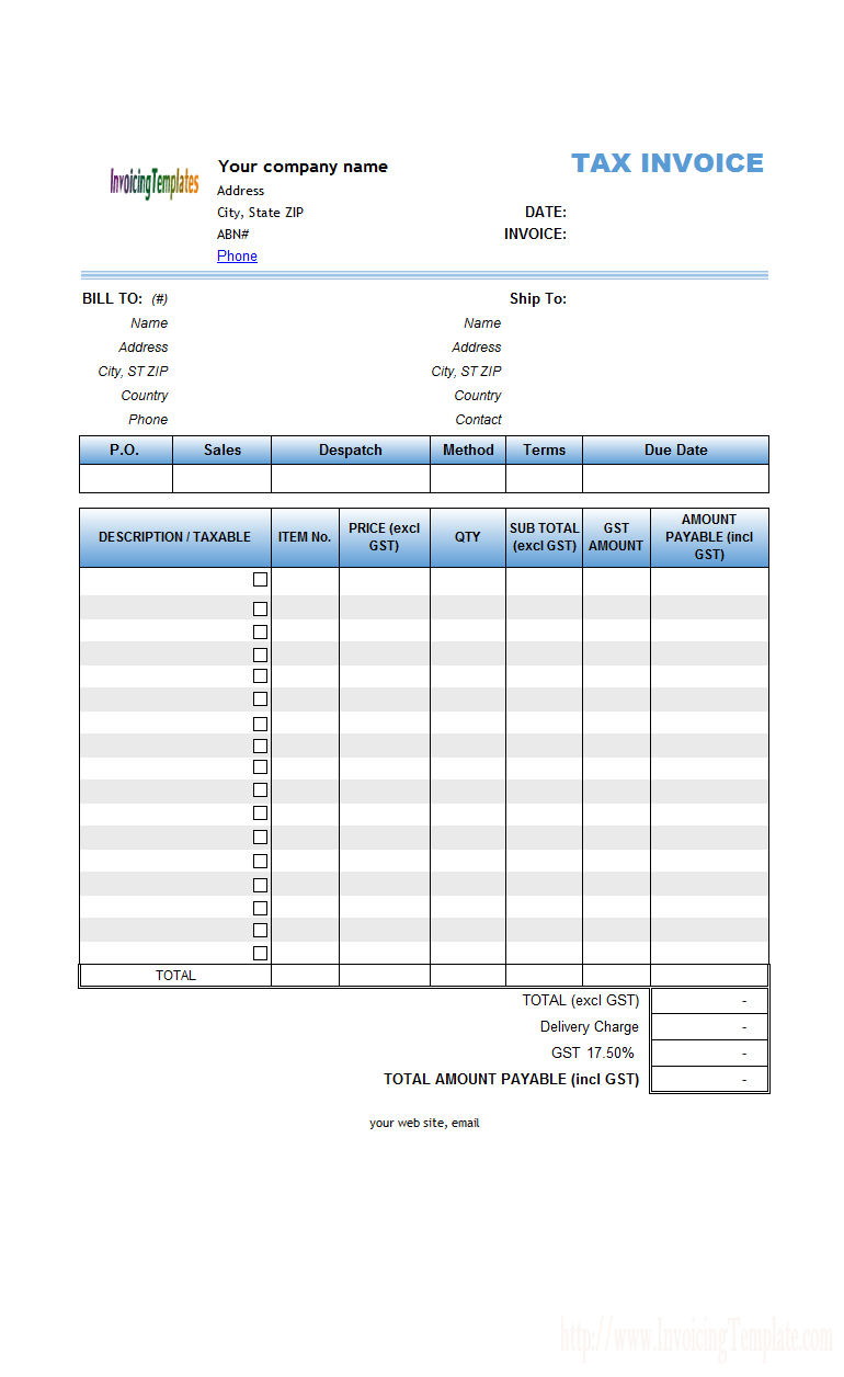 Abn invoice template invoice example for Free invoice template free invoice template australia