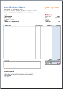 Excel Invoice Template | Invoice Template Gallery