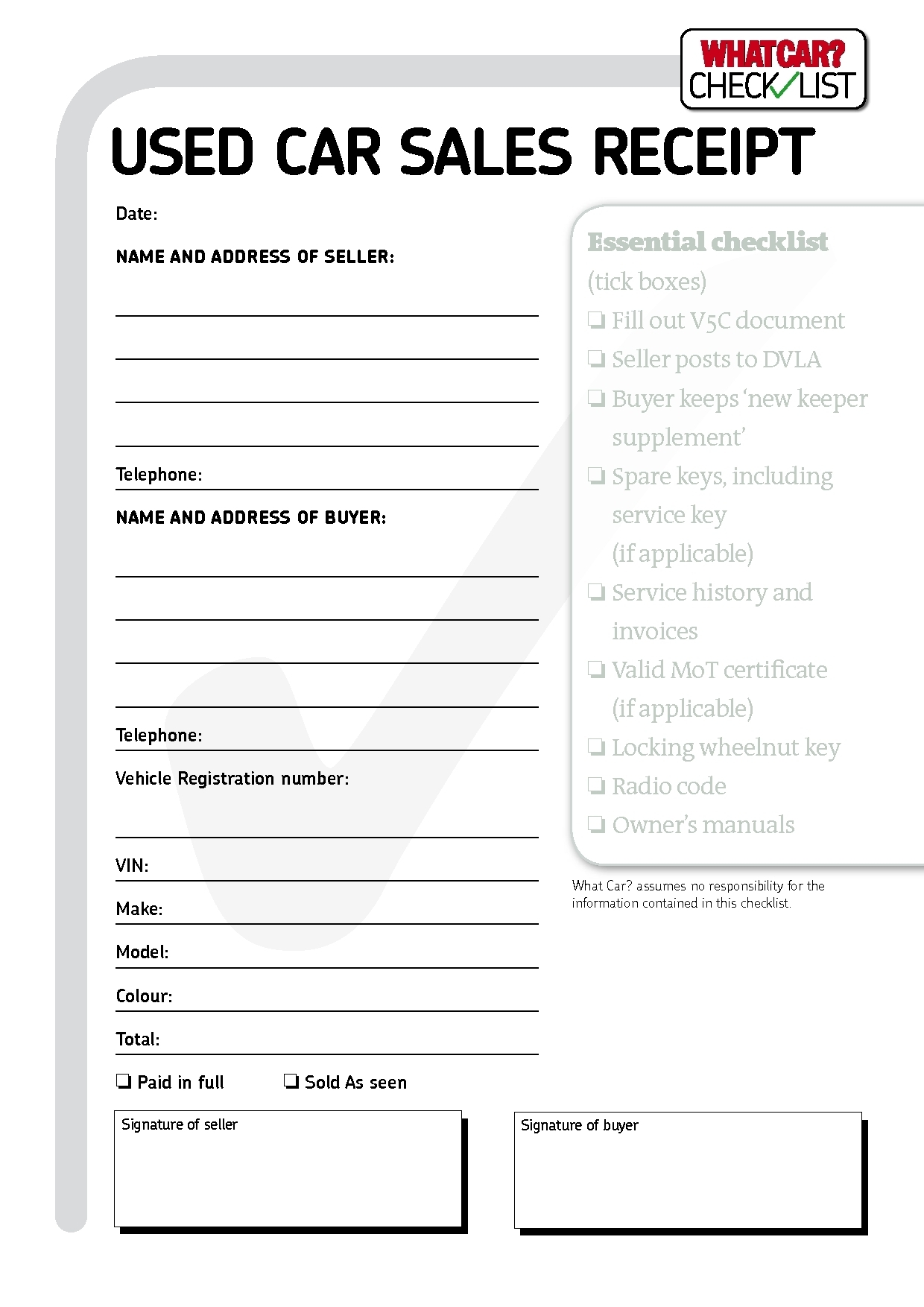 Car Sales Invoice Template Uk – Sales Invoice Template Word