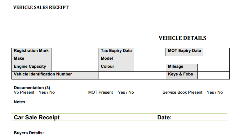 Car Sales Invoice Template Uk Invoice Example - Receipt invoice template free