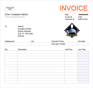 Catering Invoice Template Printable Word, Excel Invoice