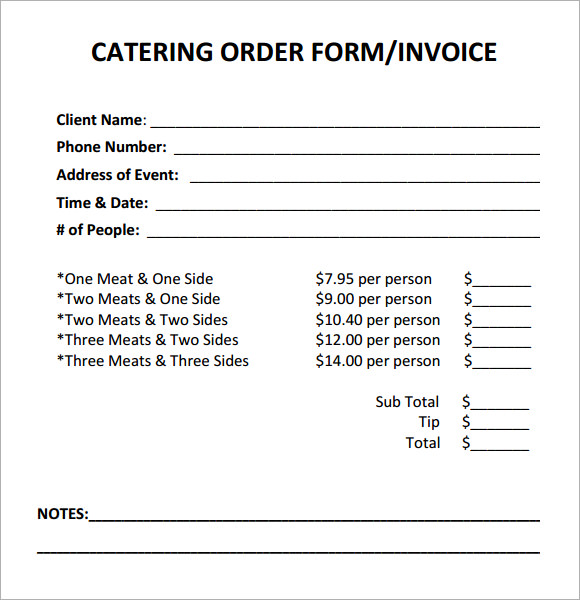 Catering Invoice Sample 10+ Documents In PDF