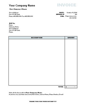 Commercial Invoice Template Word Invoice Template 2017