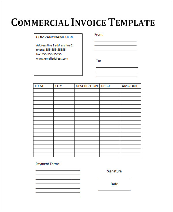 Word Invoice Example