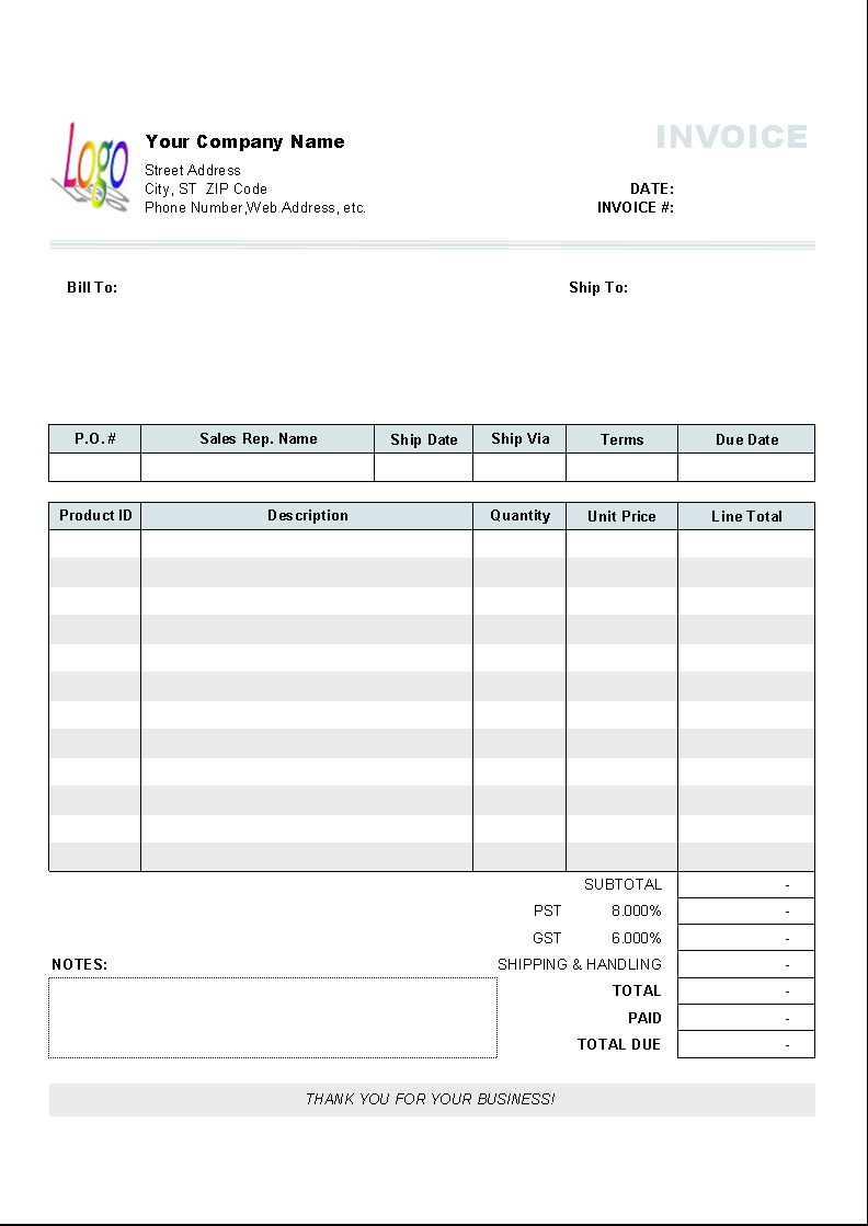 Sales Invoice Template Word Download Free NinoCrudele Invoice - Ms word invoice template doc kaws online store