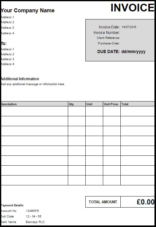 Download Invoice Template Zervant – Inoice Template