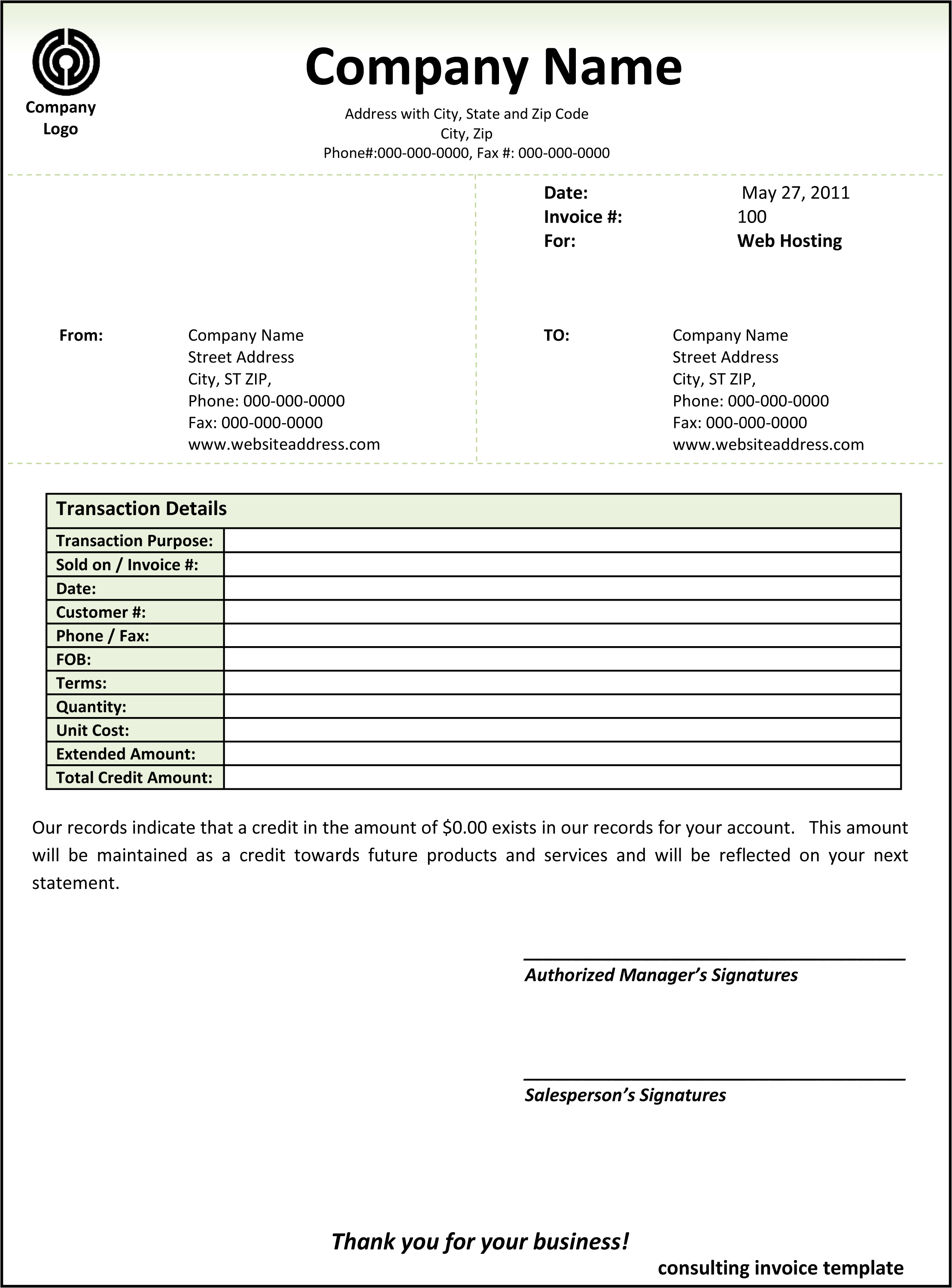 Consulting Invoice Template Word | invoice example