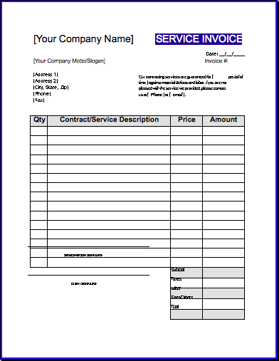 Labour Invoice Template Uk Dhanhatban.info