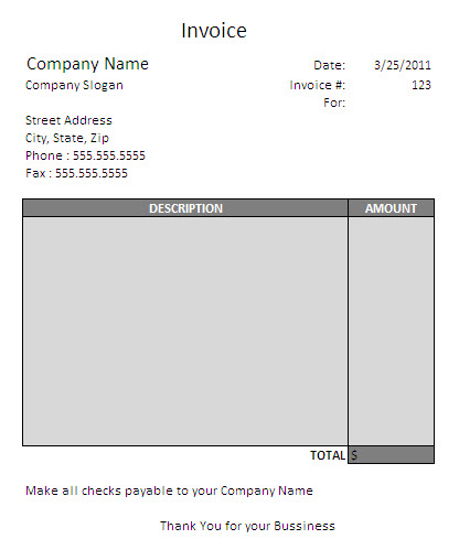 Contractor Invoice Template Uk – Contractor Receipt