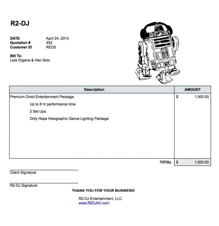 Dj Invoice Template Free ⋆ Invoice Template
