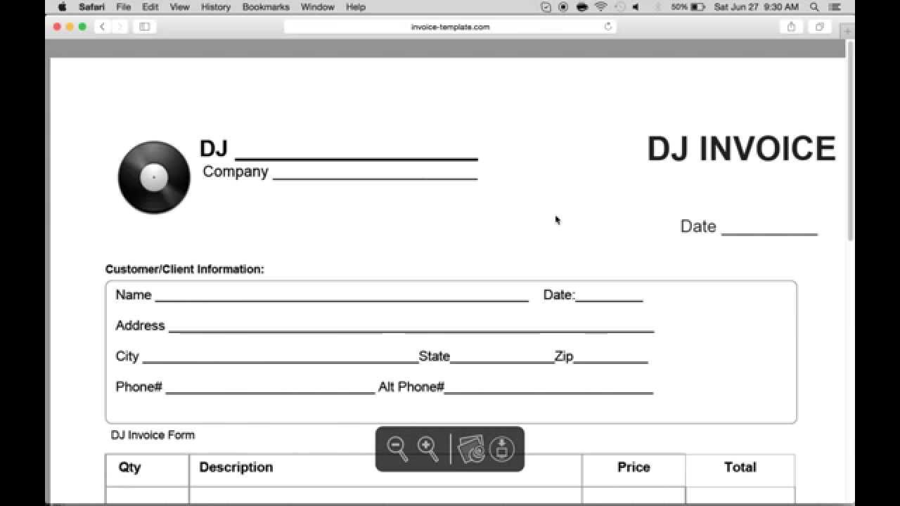 How to Make a Disc Jockey (DJ) Invoice | Excel | Word | PDF YouTube
