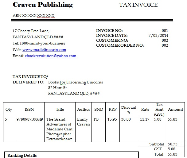 dummy invoice format Template