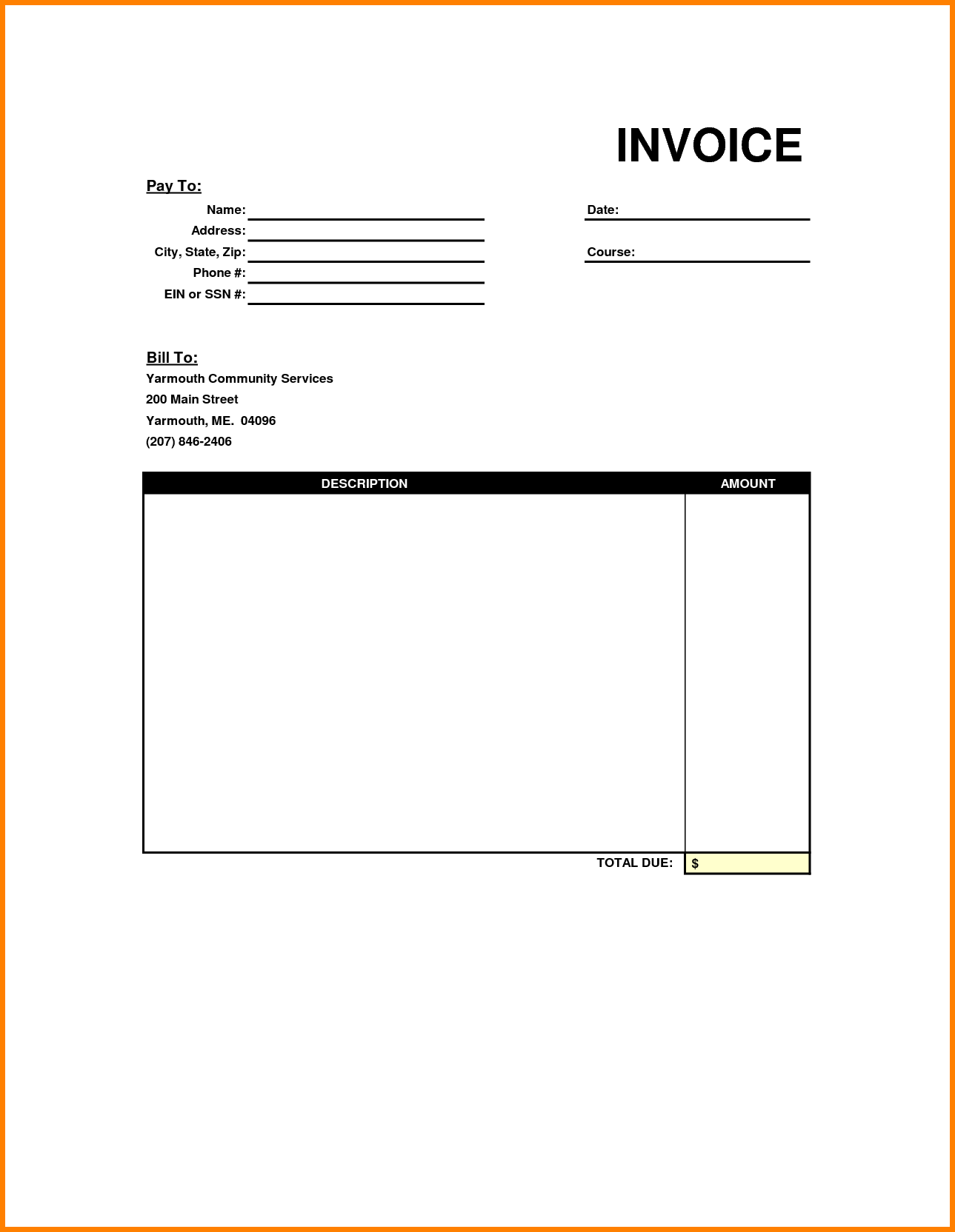 Free Invoice Templates Png Dummy Template / Hsbcu