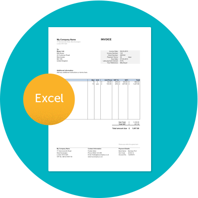 editable invoice template excel | invoice example, Invoice templates