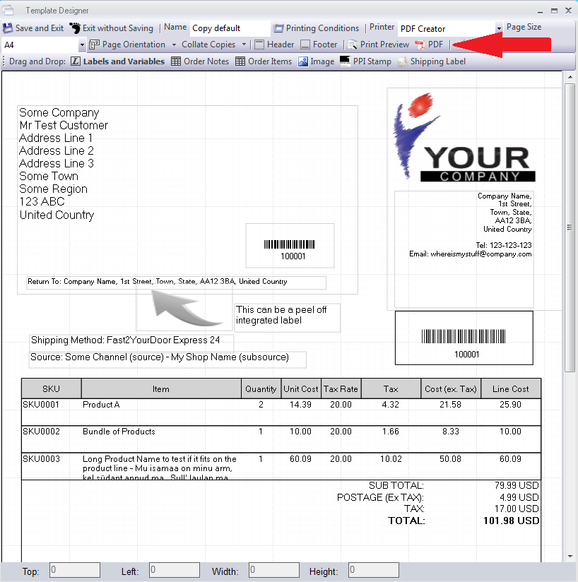 Free Email Invoice Template Letter Template Sample