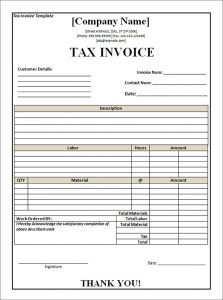 free tax invoice template excel south africa   invoice example, Invoice templates