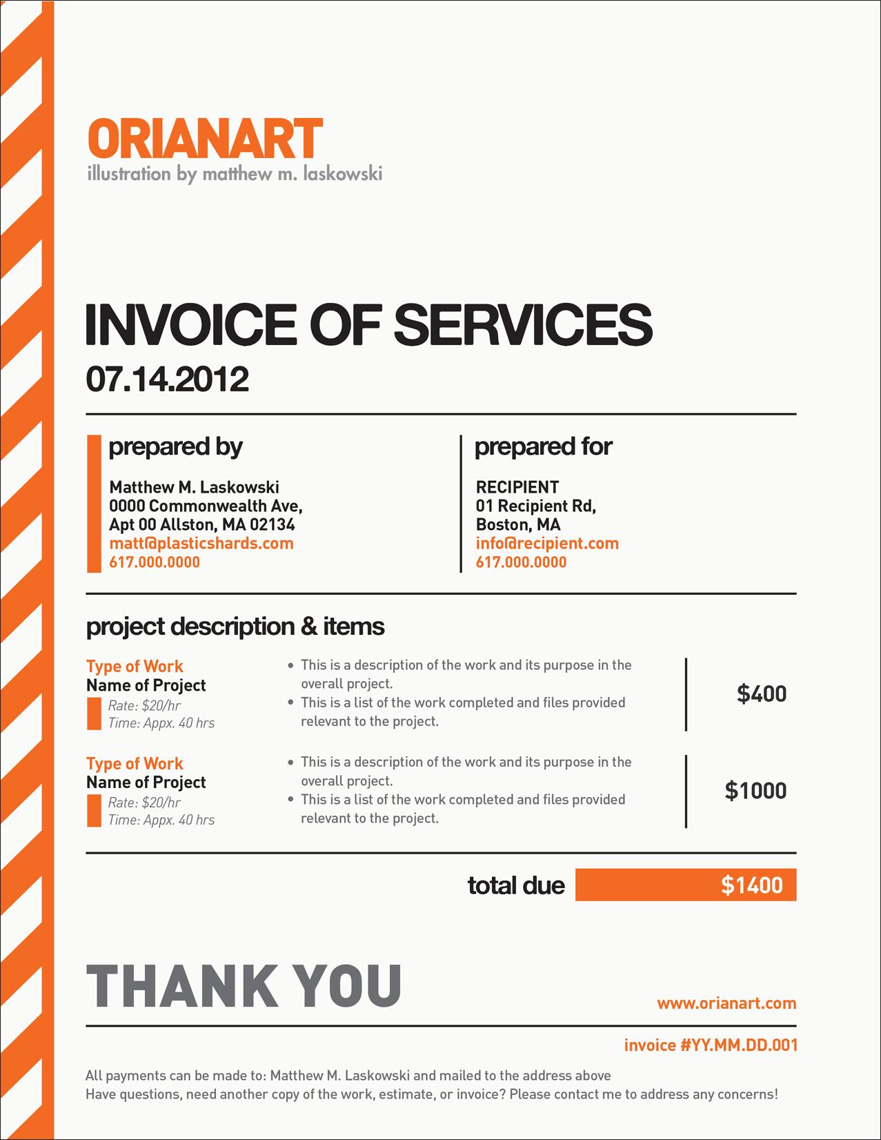 Freelance Invoice Template Free | invoice example