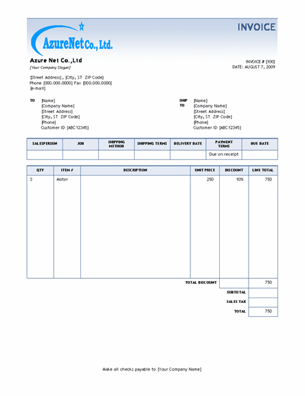 garage invoice template invoice example. Black Bedroom Furniture Sets. Home Design Ideas
