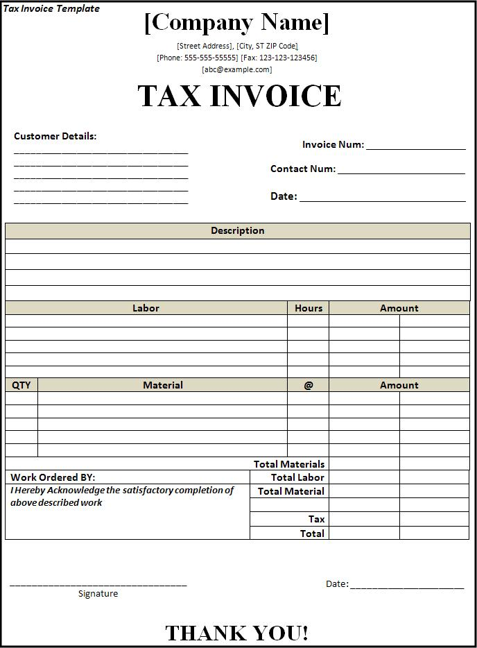 Service Tax Invoice – Privatesoftware.Info