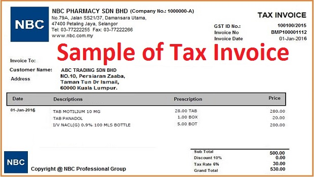Example Of A Tax Invoice. Zero Rated Invoice Example | Free