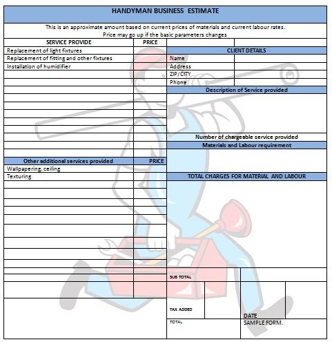 Invoice Template Handyman Dhanhatban.info