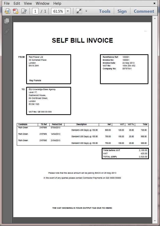 Hmrc Invoice Template | printable invoice template