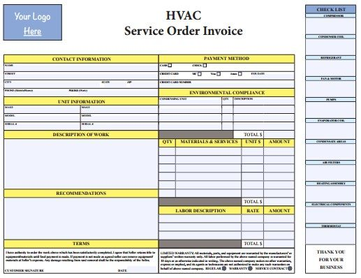 78 Best images about HVAC Invoice Templates on Pinterest | Invoice