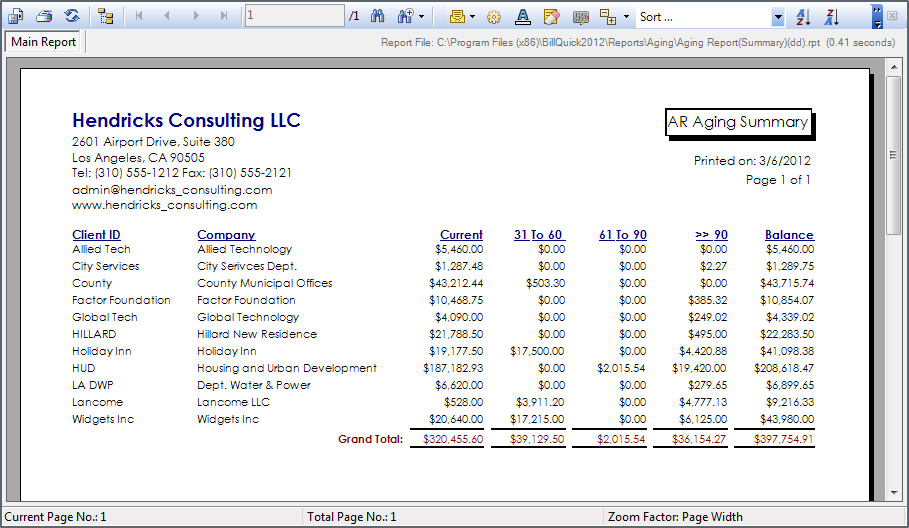 Invoice Aging Report Excel Template ⋆ Invoice Template