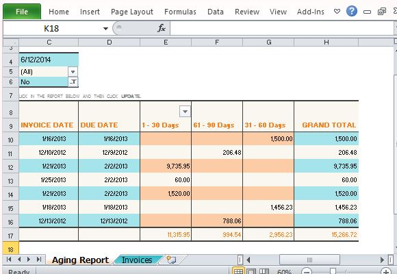Vertex42 Invoice Assistant Invoice Manager for Excel