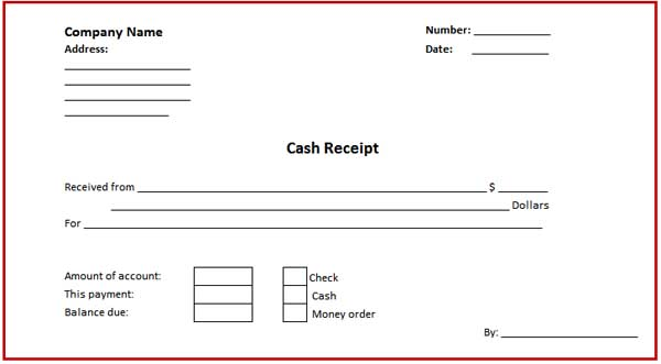 ms word receipt template
