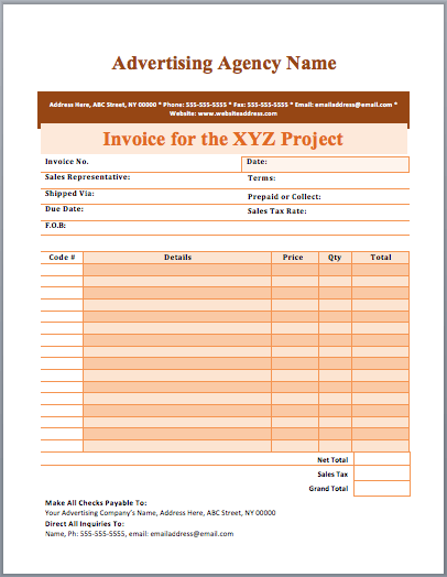 Invoice Record Keeping Template | Design Invoice Template