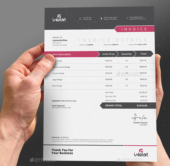 invoice template ai | invoice example, Invoice examples