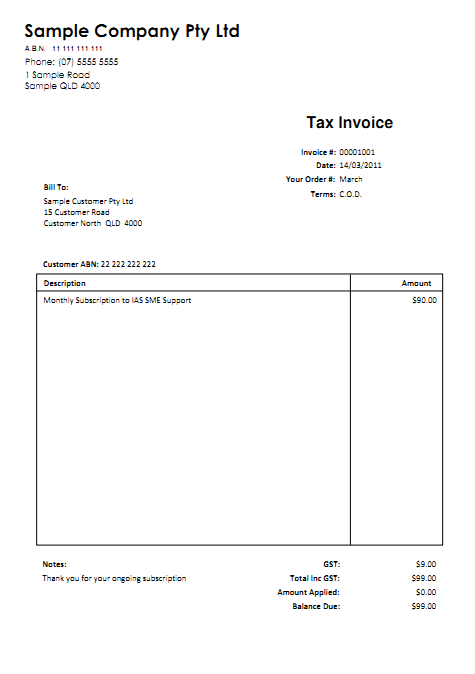 Invoice Template With Gst Australia 28 Images Abn Invoice
