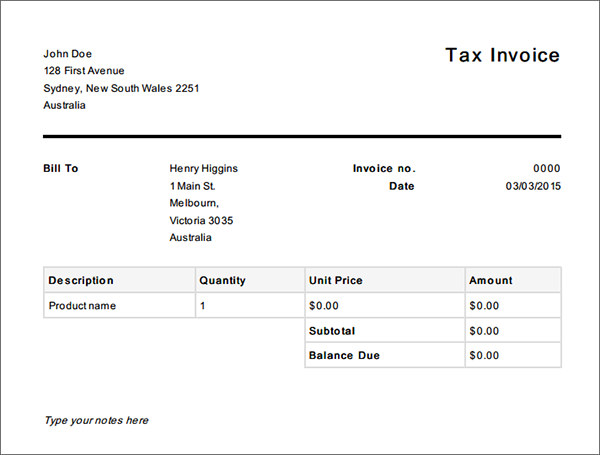 Free Basic Invoice Invoice Template For Word Free Basic Invoice