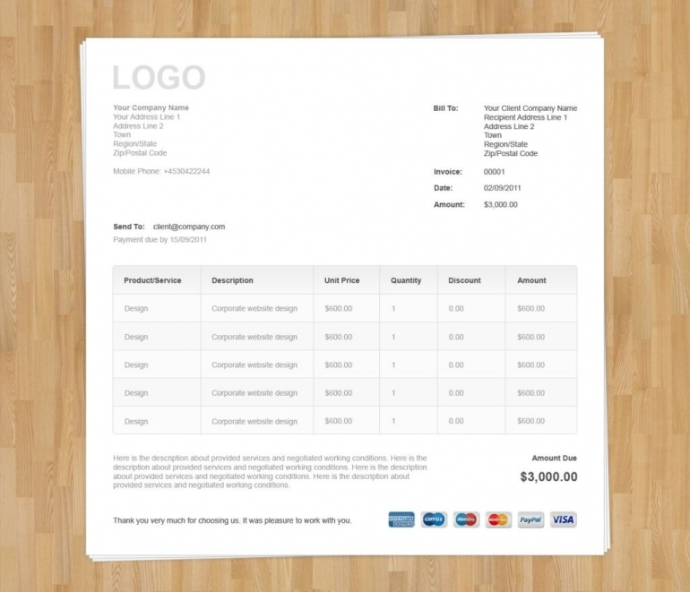 invoice template bootstrap | invoice example, Invoice examples