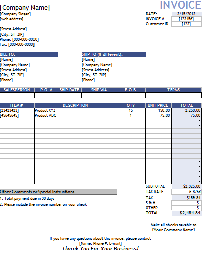 Invoice Template Contractor Invoice Example - Contractors invoices free templates