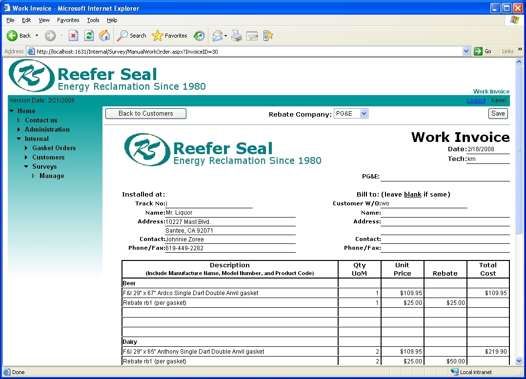 Invoice template excel 2010 invoice example for Ms access 2007 templates