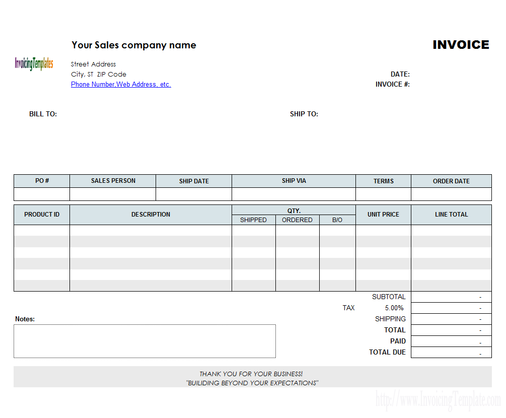 Template Invoice Template Word Doc Example Microsoft Blank For In - Cheap business invoices