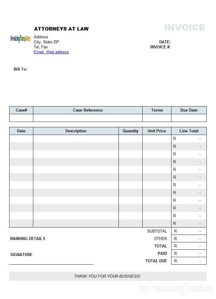 Invoice Template Excel South Africa  Tax Invoice Template Excel