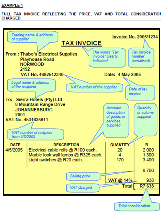 Invoice Template South Africa Dhanhatban.info