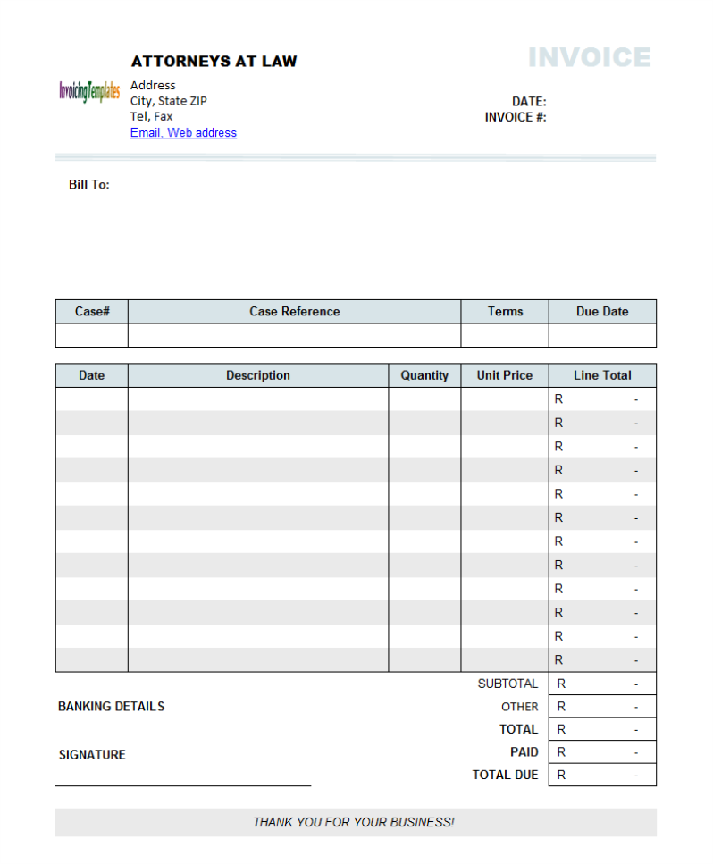 Doc.#7271008: Invoice Template South Africa – South Africa Tax