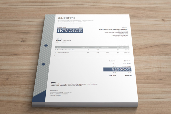 Invoice Template Html Code ⋆ Invoice Template