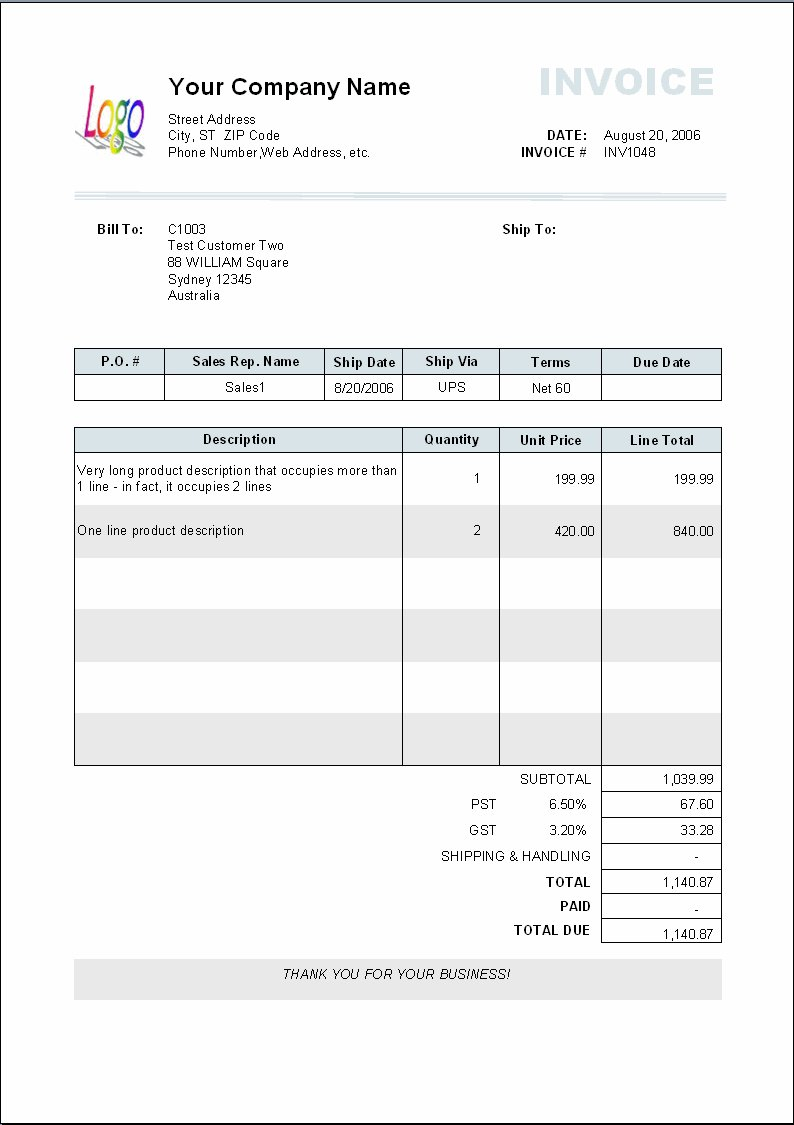 blank invoice templates for mac | printable invoice template