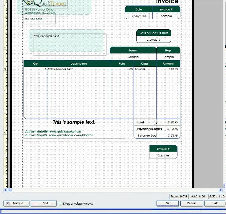 Customizing a QuickBooks Invoice Template to include a Remittance