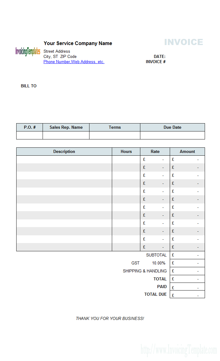 Invoice Template Uk Limited Company Invoice Example - Free invoice templete for service business