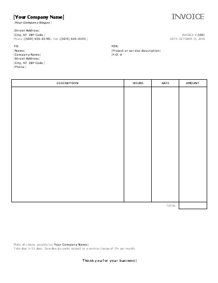 invoice template word 2003 invoice example. Black Bedroom Furniture Sets. Home Design Ideas