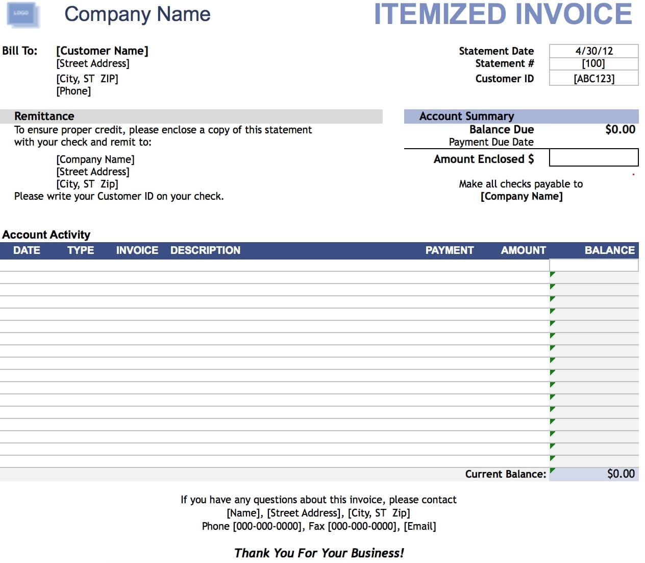 Custom Invoice Book Pdf Itemized Invoice Template  Invoice Example Write An Invoice Pdf with Comercial Invoice Template Excel Free Download Sponsorship Invoice Template Excel