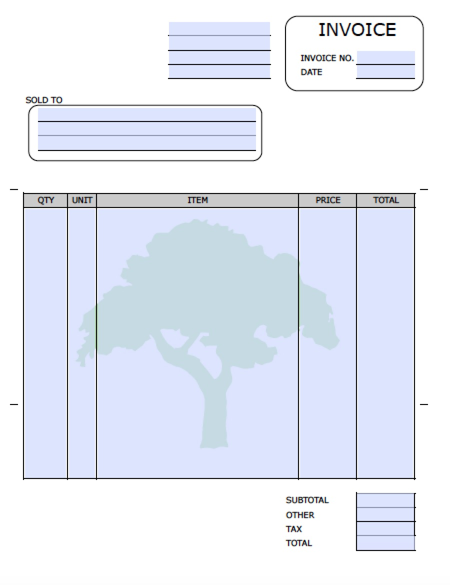 Landscaping invoice template invoice example for Free invoice template