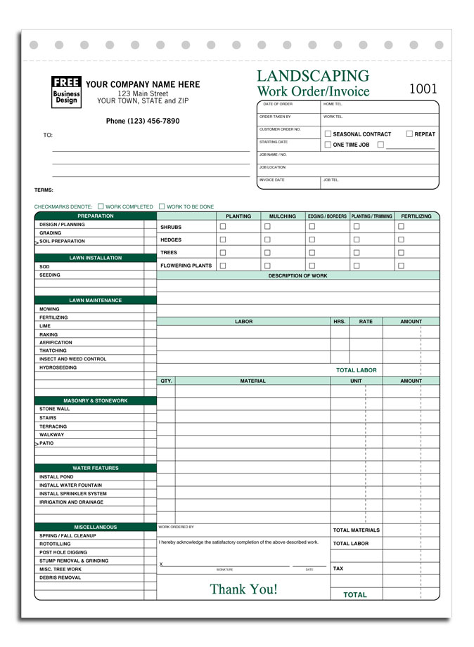 Lawn Care Invoice Template Word / Template / Hsbcu