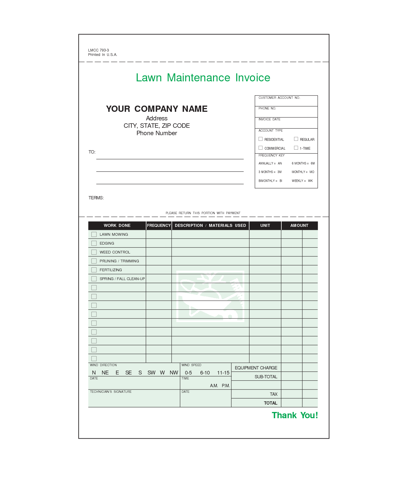 lawn care invoice design templates GopherHaul Landscaping & Lawn